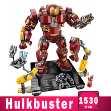 Marvel Iron man Hulkbuster War Machine Building Blocks Super Heroes Avengers Infinity War Superheroes Children Kids Toys Gifts цена 2017