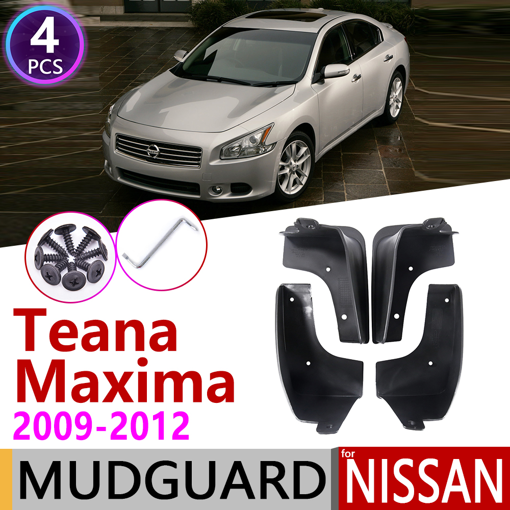 for Nissan Maxima Teana 2009~2012 J32 Car Mudflaps Fender Mud Flap Guard Splash Flaps Mudguards Accessories 2010 2011 2nd 2 Gen image