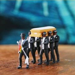 1:64 Высокая Имитация пластмассы Гана, похорон гроба, танцевальный Подсолнух, модель команды, тонкое мастерство, фигурка, украшение автомобил...
