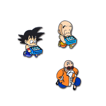 Dragon Ball GoKu Roshi Brooches Japanese Anime Enamel Pins Lapel / Hat Pin Badge Pins Denim Jacket Oil Drop Brooches D84