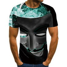 2021 nouveaux hommes été crâne impression hommes à manches courtes T-shirt 3D T-shirt décontracté respirant T-shirt et grande taille T-shirt 110-6XL