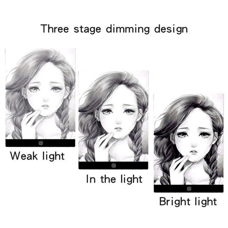 3-niveau dimbare LED-tekening kopiëren pad bord voor baby A5-formaat - Leren en onderwijs - Foto 5