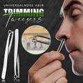 Универсальный Пинцет для стрижки волос в носу триммер для носа пинцет с круглым кончиком для бровей идеальная стальная отделка для удалени...