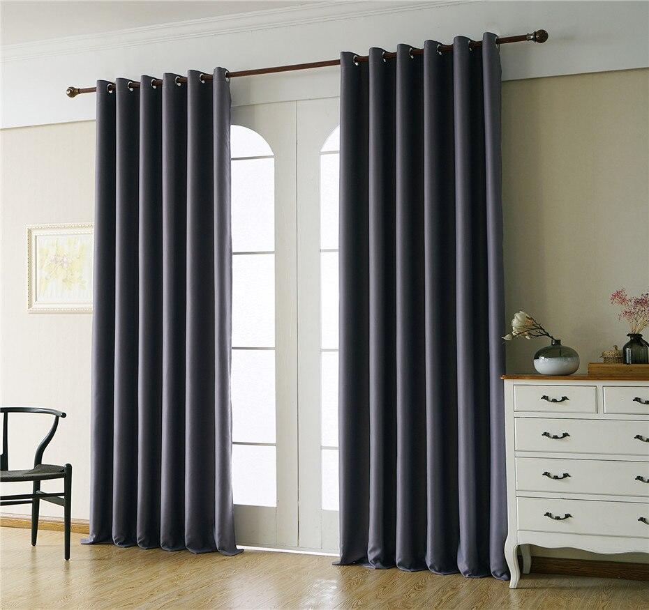 Moderno cortinas blackout janela para sala de estar cortina grossa para o quarto alta sombreamento cortinas para cozinha personalizado