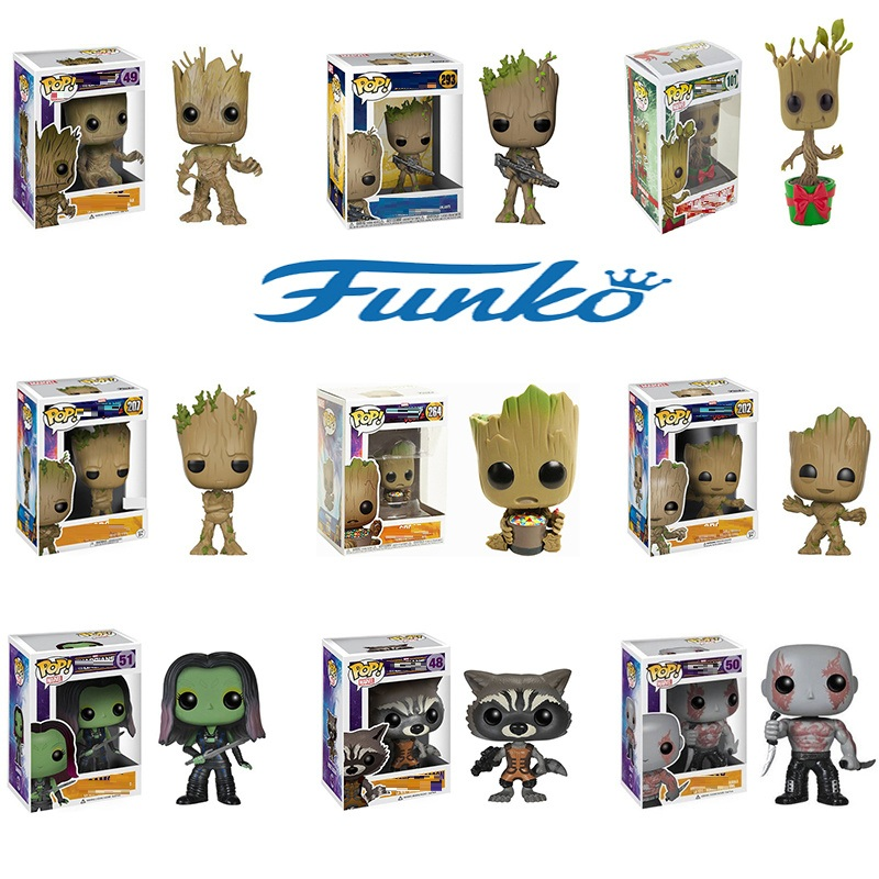 Funko POP Anime Figure Groot Rocket Raccoon Star Jue Damage By Action Figure Collection Model Toys Birthday Christmas Gift