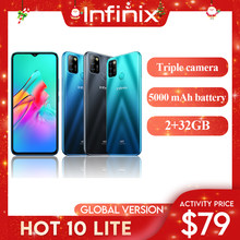 Смартфон на Андроид Infinix Hot 10 Lite 2ГБ 32ГБ Диагональ 6,6
