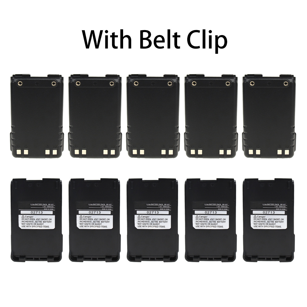 10X Replacement For Icom BP-227 Battery Compatible With Icom BP-227 BP-227Li Two-Way Radio Battery (1900mAh 7.4V Lithium-Ion)