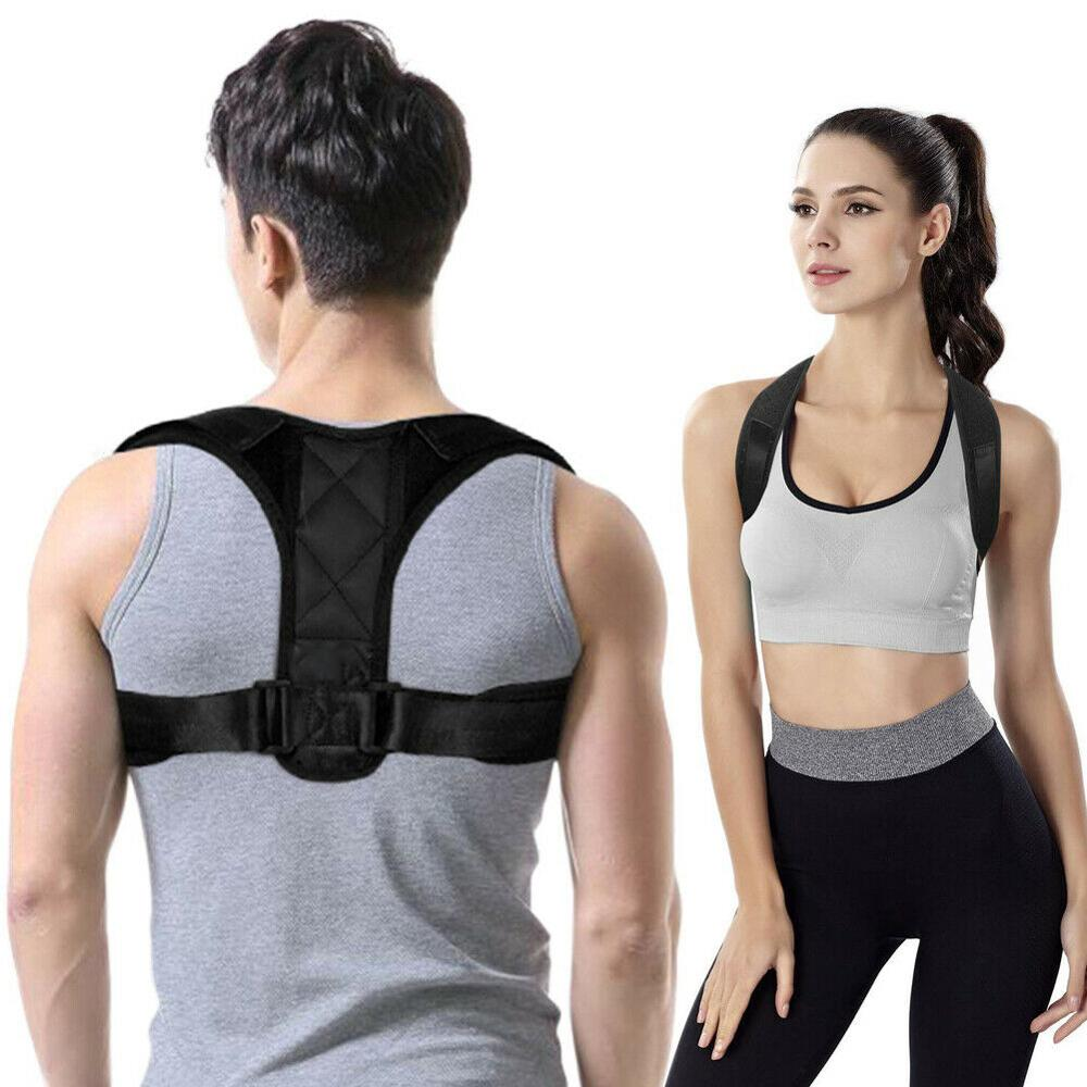 Adjustable Back Posture Corrector Clavicle Spine Back Shoulder Lumbar Brace Support Belt Posture Correction Prevents Slouching 1