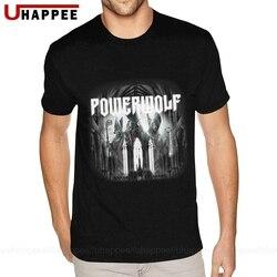 Cool Powerwolf Blood Of The Saints Tee Shirt Men Custom Made Short Sleeved Heavy Cotton O-neck T-Shirts