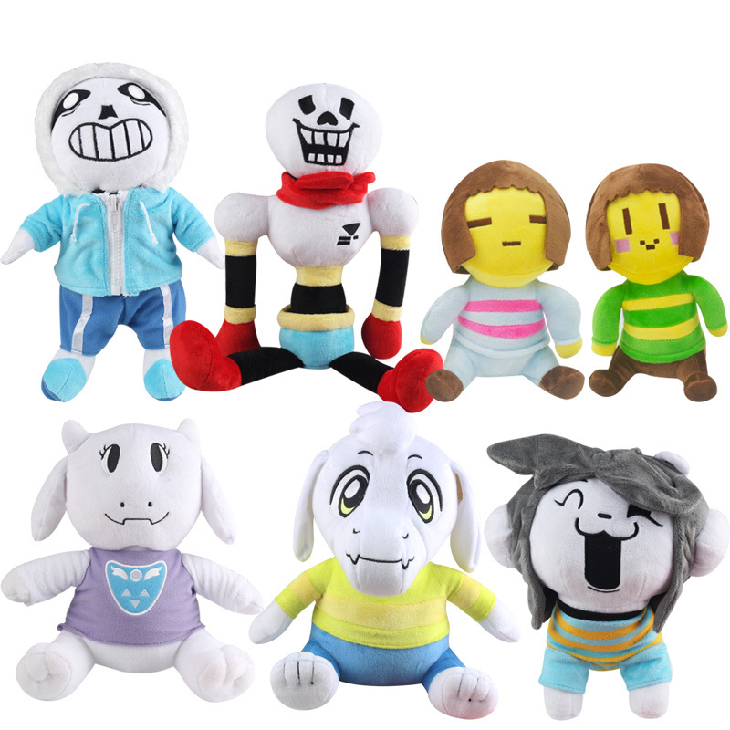 7 Styles Undertale Plush Toy Doll  Sans Frisk Chara Asriel Temmie Toriel Plush Stuffed Toys Birthday For Children Kids Gifts
