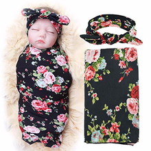 Baby Bedding Blanket  + Hair Band Cotton Baby Swaddle Wrap for Newborns Soft Infant Blanket & Swaddling Wrap Blanket Sleepsack baby blanket soft warm winter crystal velvet warm blanket cotton baby winter swaddling infant swaddle plush bedding rabbit bear