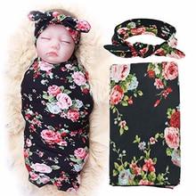 Baby Bedding Blanket  + Hair Band Cotton Baby Swaddle Wrap for Newborns Soft Infant Blanket & Swaddling Wrap Blanket Sleepsack