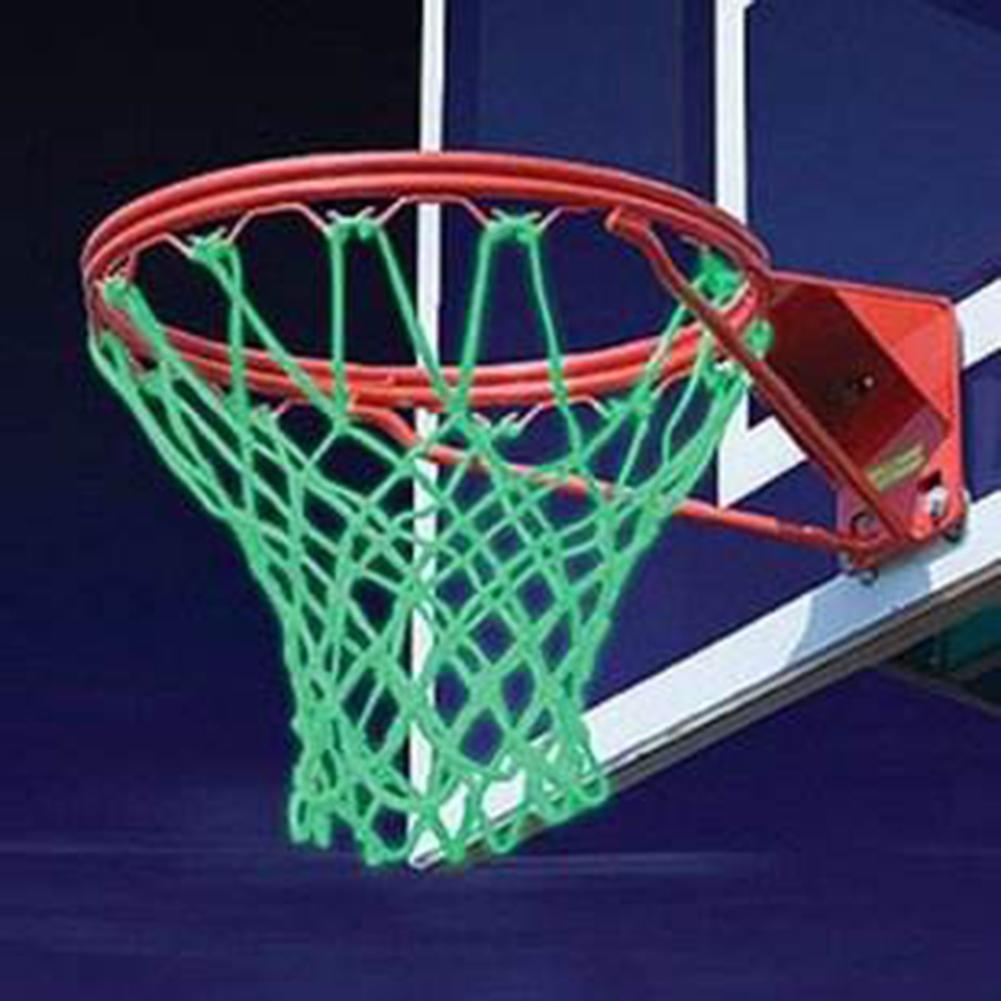 Luminous Basketball Net Glowing Light Basketball Ball Mesh Green Luminous Backboard Rim Sports Netting Outdoor