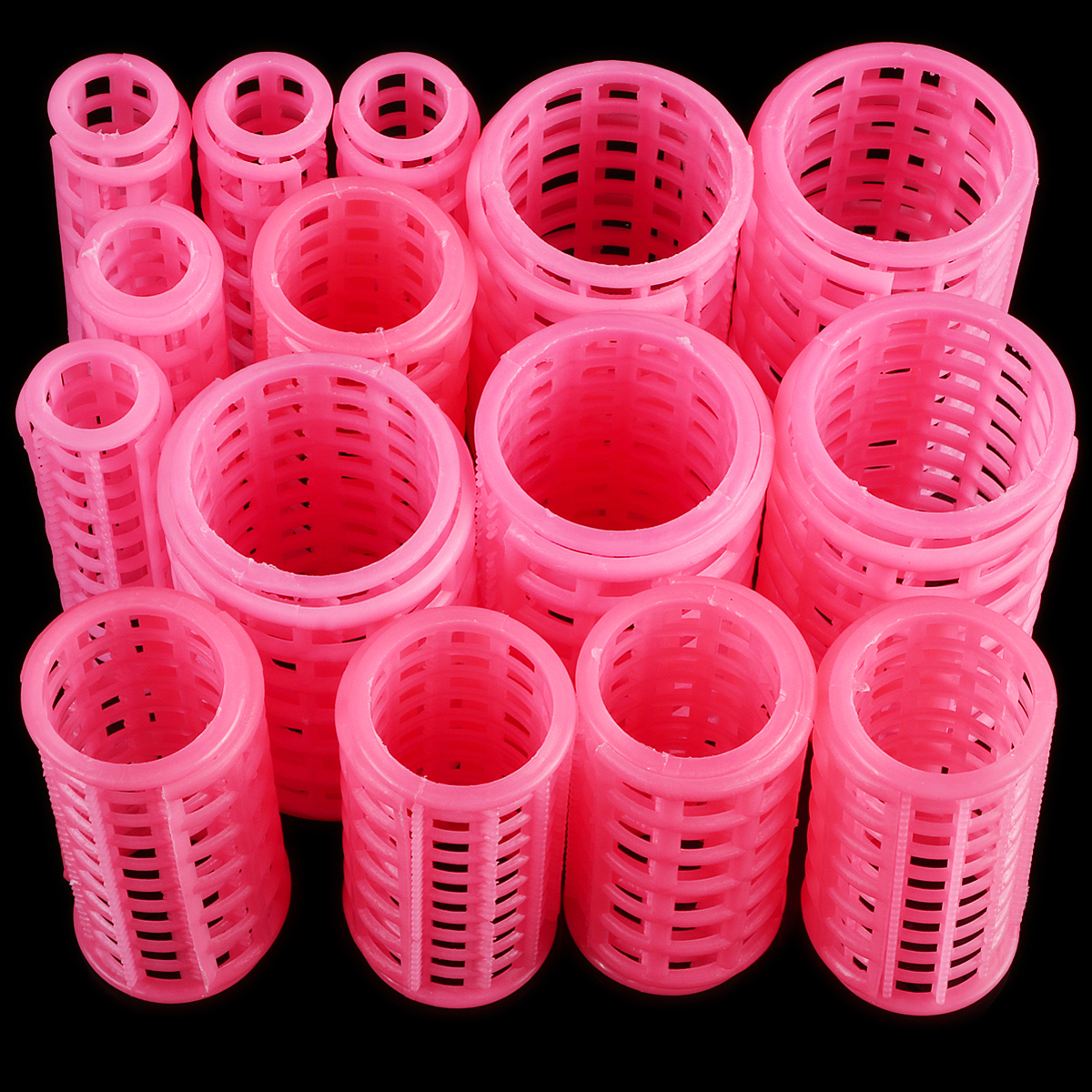 15pcs/set Hair Curler Roller Large Grip Clips Curlers Hairdressing DIY Hair Styling Beauty Tools