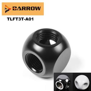 Barrow Cubic-Adaptors Water-Cooling-Accessories White Silver-Gold PC Three-Links TLFT3T-A01