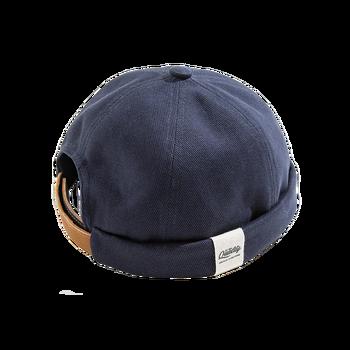 Maden Men Adjustable Denim Beanie Skull Cap Dockworker Hat Roll Cuff  Casual Caps Sailor Hats Male 6