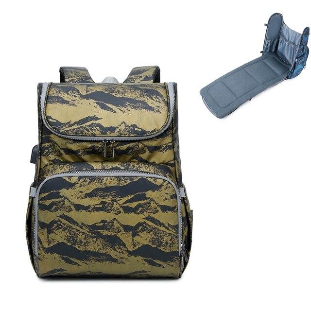 сумка для подгузников рюкзак складная детская кровать многофункциональная фотография