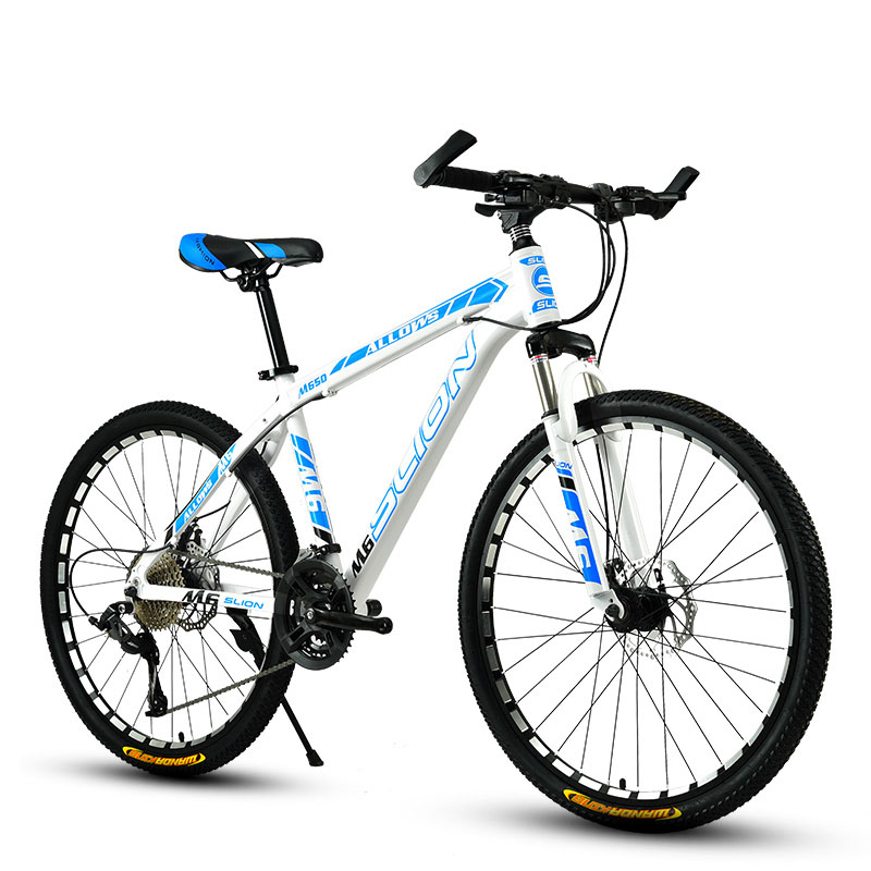 Mountain Bike 33 Speed 24 Inch Fat Bike Adult Shock Racing Car Double Disc Brakes Speed Student Bicycle