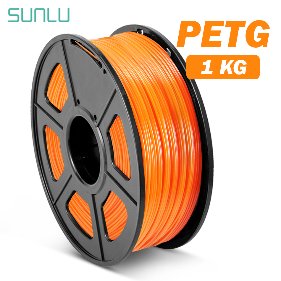 1.75mm 3D Printer Filament PETG 1KG With Spool SUNLU  Ordinary Brand PETG Filament 100% No Bubblle 395M/roll
