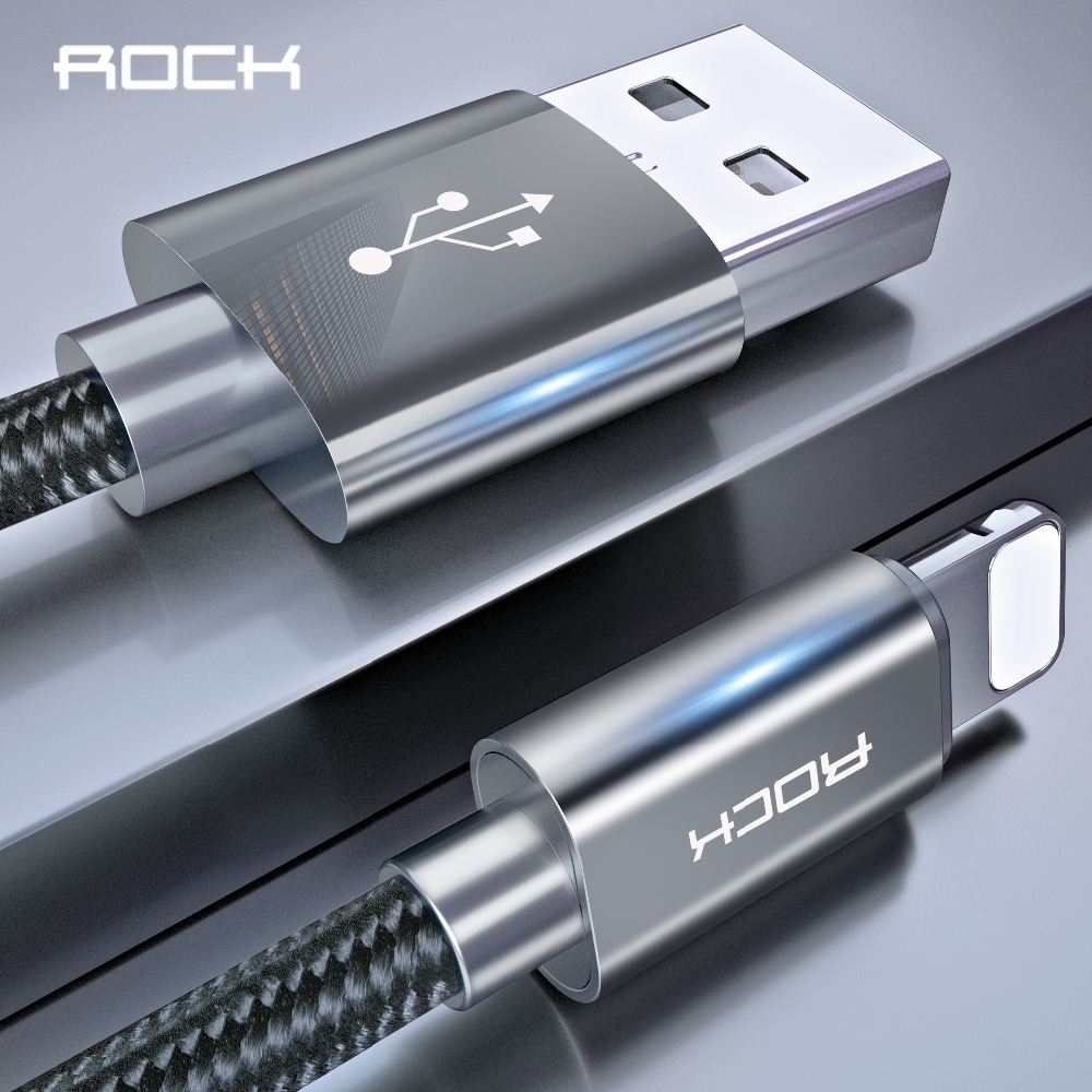 ROCK For iPhone usb Cable IOS 13 12 11 10 9 Fast Charger Lighting to USB Cables Charging Cord  2.1A For Mobile Phone Charger|Mobile Phone Cables| |  - AliExpress