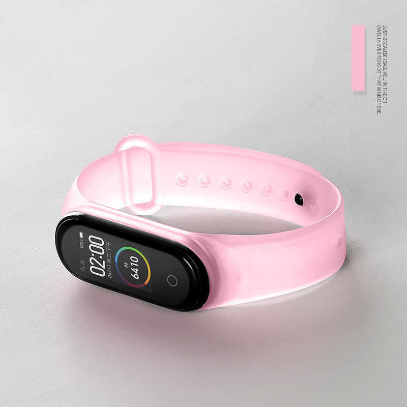 Bande de remplacement pour Xiaomi Miband 3/4/5 Silicone souple étanche sport Bracelet accessoires montre Bracelet