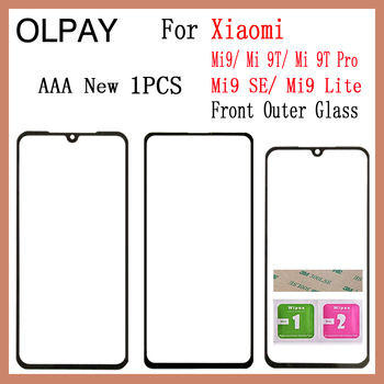New For Xiaomi Mi9 Mi 9 SE Mi9 Lite Mi9T Mi 9T Pro Panel Front Outer Glass Touch Screen Panel Replacement Parts NO LCD Digitizer new for sony vaio pro 13 svp132a svp132a1cl touch screen glass repairing parts free shipping