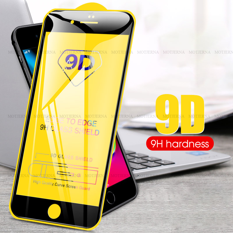 9D Tempered Glass For iPhone SE 2020 7 8 6 6S Plus X XR XS Max Full Cover Screen Protector iPhone8 iPhone7 <font><b>iPhone6</b></font> Plus Glass image