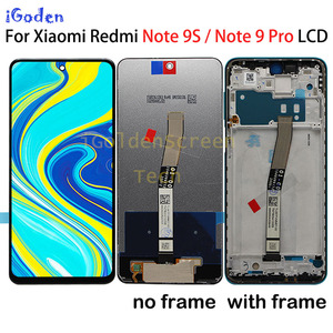 """Image 1 - Original 6.67""""LCD For Xiaomi Redmi Note 9 Pro LCD Display Touch Digitizer Screen For Xiaomi Redmi Note 9S LCD Screen Replacement"""