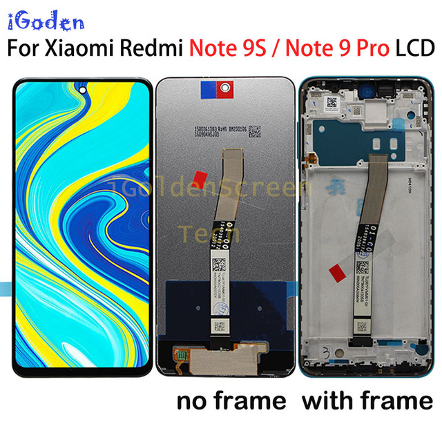 """Original 6.67""""LCD For Xiaomi Redmi Note 9 Pro LCD Display Touch Digitizer Screen For Xiaomi Redmi Note 9S LCD Screen Replacement"""