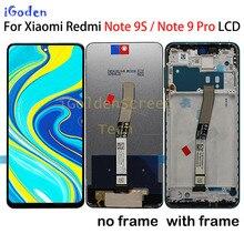 """Oryginalny 6.67 """"LCD dla Xiaomi Redmi uwaga 9 Pro wyświetlacz LCD ekran dotykowy Digitizer dla Xiaomi Redmi uwaga 9S wymiana ekranu LCD"""