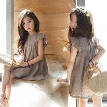 Новинка 2021, двухслойное платье для девочек с вышивкой, хлопковая одежда для маленьких принцесс, летние детские летние рукава для мамы и я, #...