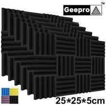 Geepro 10 stücke Schallschutz Schaum Studio Akustische Panels Akustische Schaum Keile 25x25x5cm Schalldichte Absorption Behandlung panel