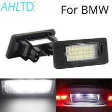 A Pair 24 LED 3528 SMD LED License Plate Lights Lamp 6000K Cool White Fit For BMW E82 E90 E92 E93 M3 E39 E60 E70 X5 Car Styling