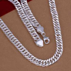 Fine Necklace Fashion Jewelry 925-Sterling-Silver 100%Boys Men Gift Christmas-Gift Men's
