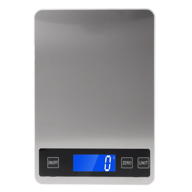 2020 New Digital Kitchen Scales 22lb/10kg Charging Touch Button Waterproof Cooking Scale image