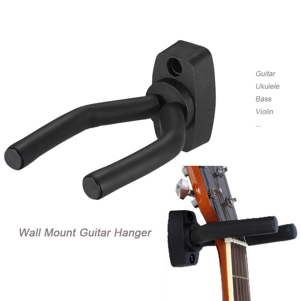 Wall Mount Guitar Hanger Hook Non-slip Holder Stand  for Acoustic Guitar Ukulele Violin Bass Guitar  Instrument Accessories