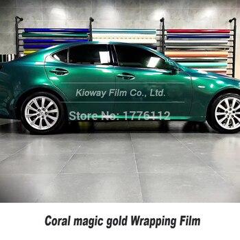 high end Coral blackish green vinyl wrap Car vinyl  wrap Film Magic Coral For Car wrapping film With Air bubble Free