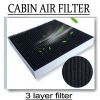 2pcs/set CABIN AIR FILTER for BMW F10/F11/F18/F06/F12/F13/F01/F02 F03 F04 F07 size:Length: 245mm, Width: 204 mm, Height: 30 mm