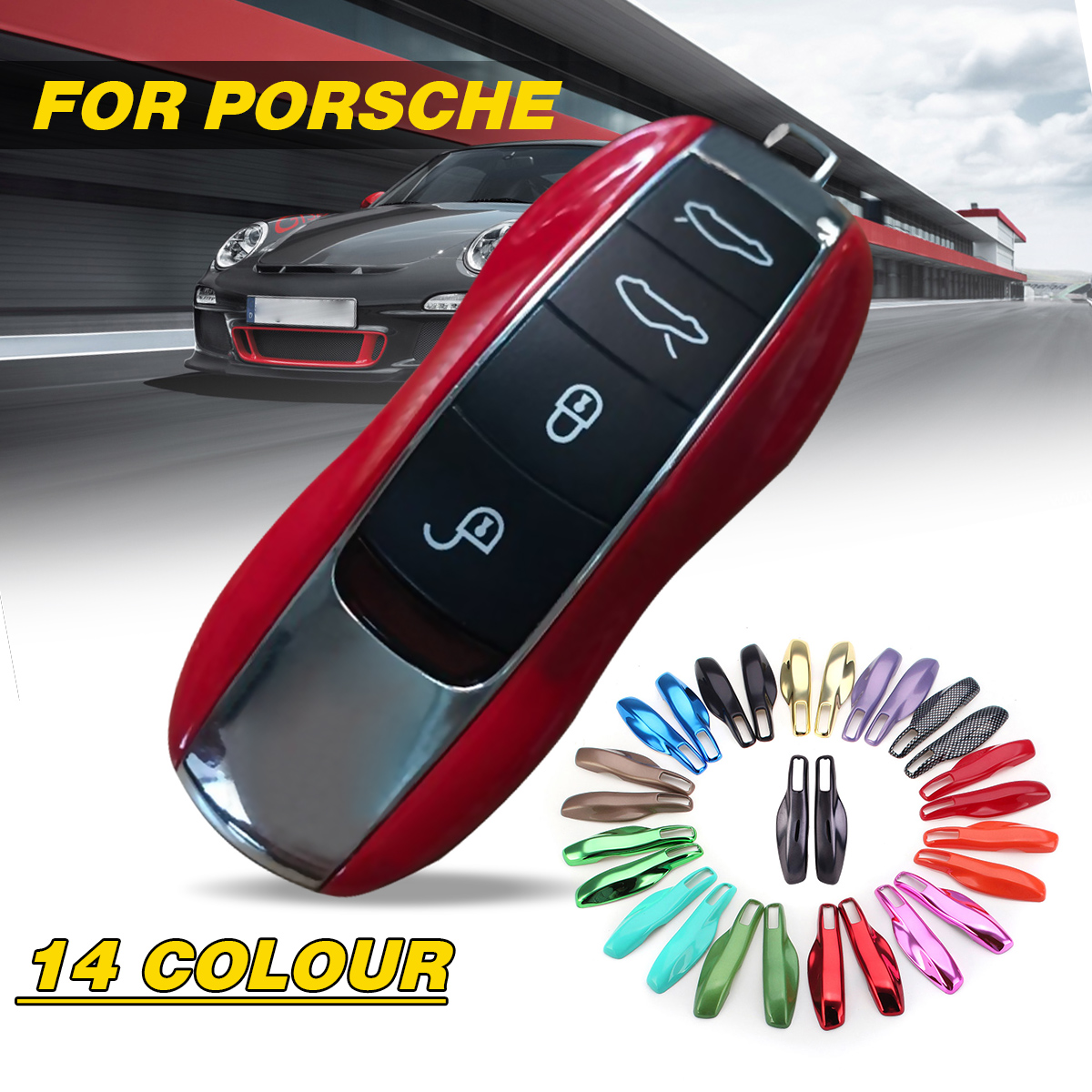 1Pc Replace Refit Cover Protection Shell Remote Key Case Fob Modified Key Shell For Porsche Panamera Macan Cayman 911