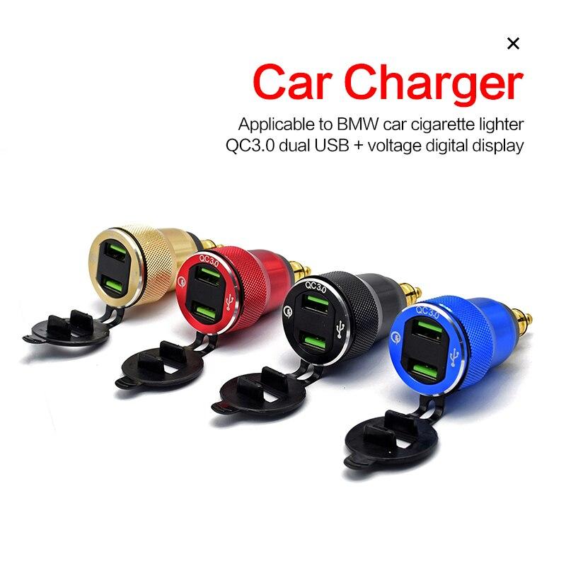 Waterproof Motorbike 12V 24V QC3.0 Dual USB Type C PD Fast Charger Power Adapter Hella DIN Plug Socket Car Accessories