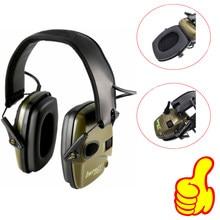 Esportes táticos ao ar livre anti-ruído amplificador de som eletrônico tiro earmuff caça fone de ouvido protetora atacado