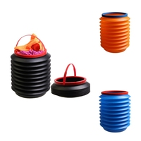 Hot New 4L Car Folding Collapsible Bucket Fishing Bucket  Car Trash Can Mini Portable Plastic Container Storage Box|Stowing Tidying|Automobiles & Motorcycles -