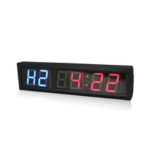 купить 4 & 2.3 Inches Interval training Gym Countdown Timer Clock LED Digital Fitness Wall Clocks дешево