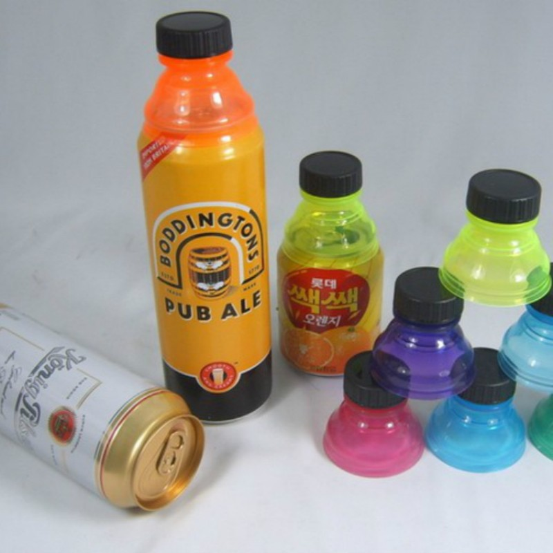 6pcs Reusable Beverage Can Caps Cover Lids Tops Snap On Camping Soda Drink Saver