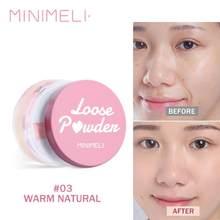 Matowy sypki proszek makijaż profesjonalny makijaż twarzy puder kontrola oleju makijaż półprzezroczysty rozjaśniający wykończenie kosmetyczny TSLM1