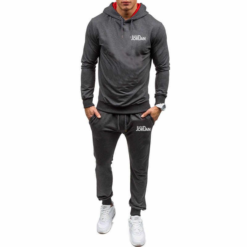 Jordan 2019 Heren Sets Hoodies + Broek Herfst Winter Mannen Hooded Sweater Fleece Hoodie Broek 2 Delige Set Pakken Streetwear hoody