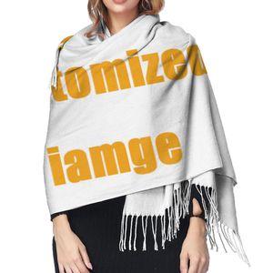 Image 5 - NOISYDESIGNS Customized Women Cashmere Scarves with Tassel Autumn New Soft Warm Lady Girls Wraps Thin Long Scarf Female Shawl