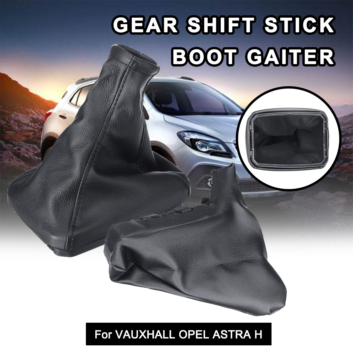 FITS VAUXHALL VECTRA B WHITE LEATHER SET OF  GAITERS NEW