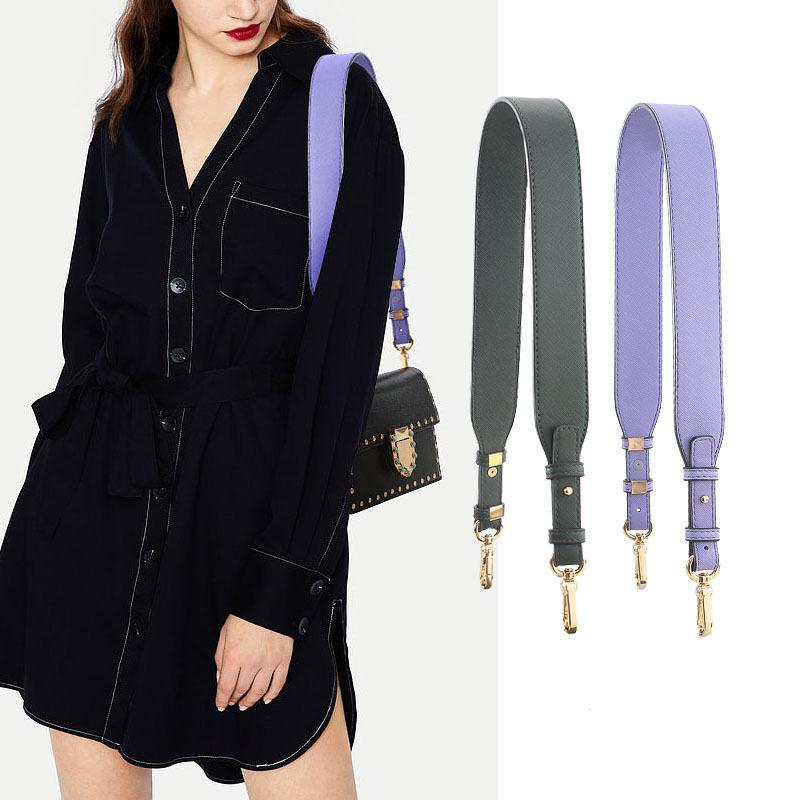 High Quality Pu Leather Bag Strap Adjustable Wide Shoulder Crossbody Bag Straps Casual Solid Replacement Handbag Belt Accessoriy