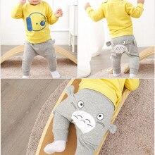 Pants Trousers Bottoms Toddler Girls Newborn-Baby Baby-Boy High-Waist Cartoon PP